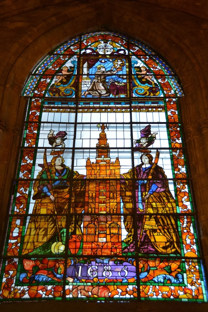 Cathedral of Sevilla stained glass