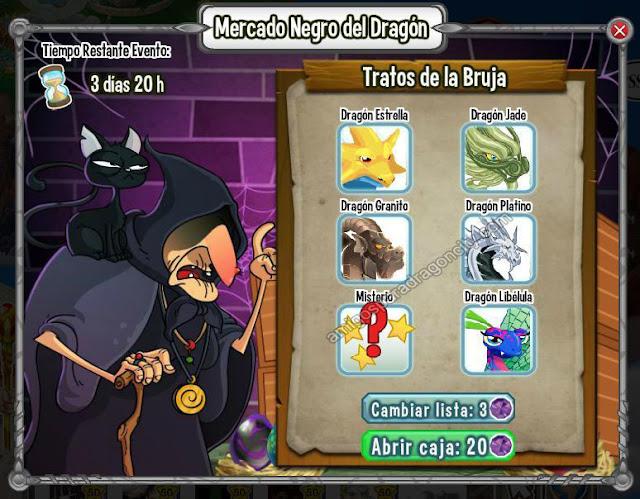 dragon granito en una de las listas del mercado negro del dragon