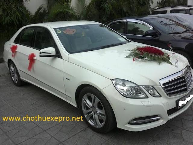Cho thuê xe cưới Mercedes E200 tại Hà Nội
