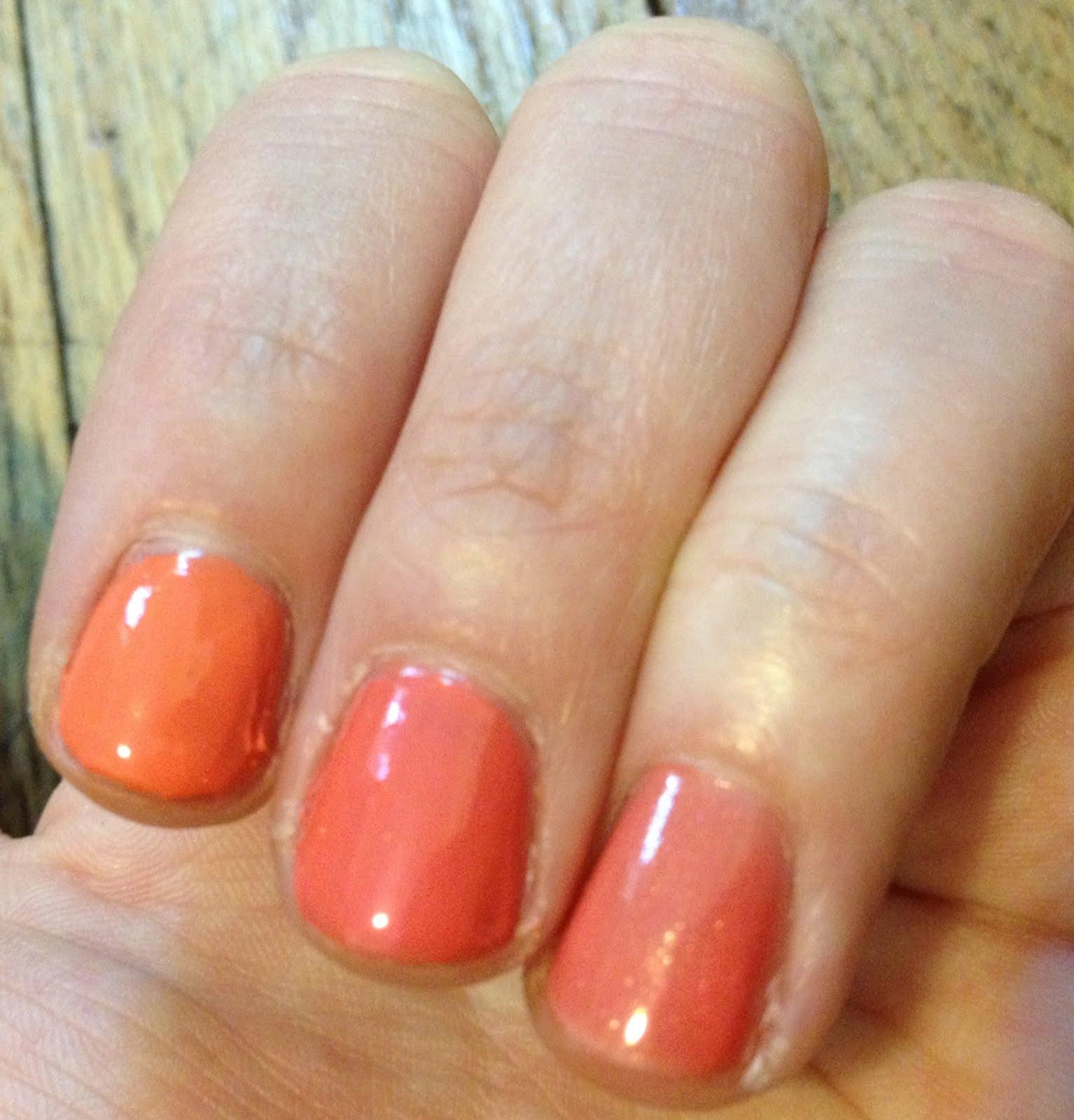The Beauty of Life: Chanel Orange and Peach Nail Polish Comparison ...