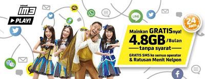 Tarif Indosat IM3 Play Area Bali dan Nusa Tenggara