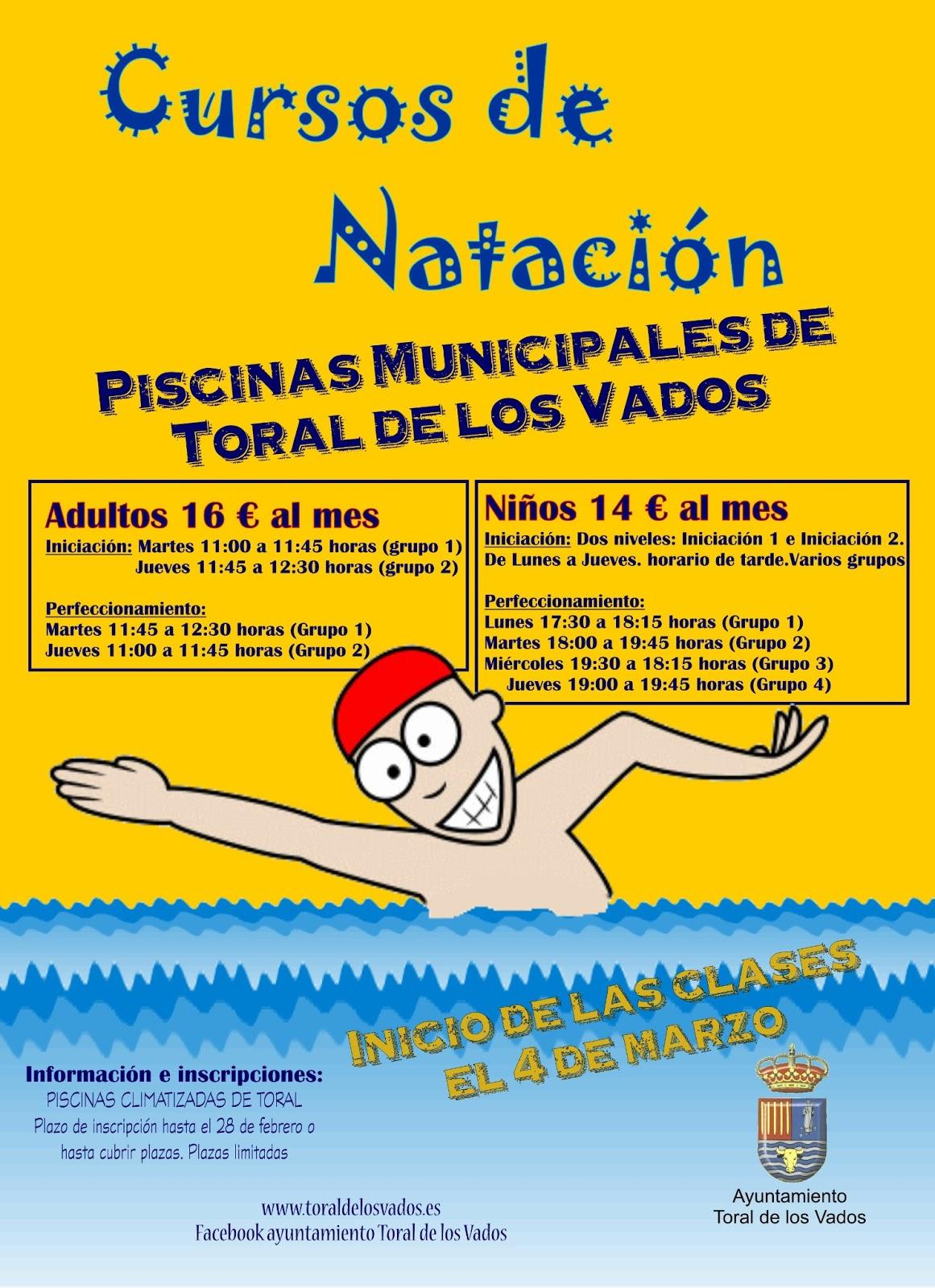En ponferrada cursos de nataci n en la piscina climatizada for Clases de piscina para bebes