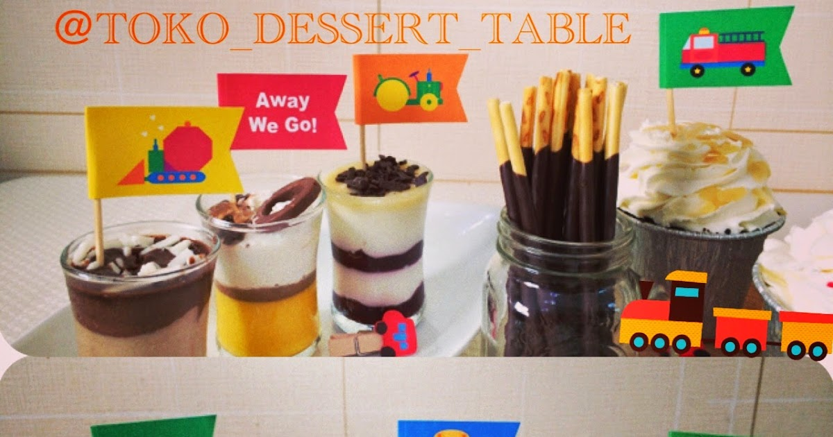 Toko Dessert Table Away We Go Topper Cupcake
