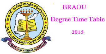 BRAOU Degree Hall Tickets 2015 AP-TS