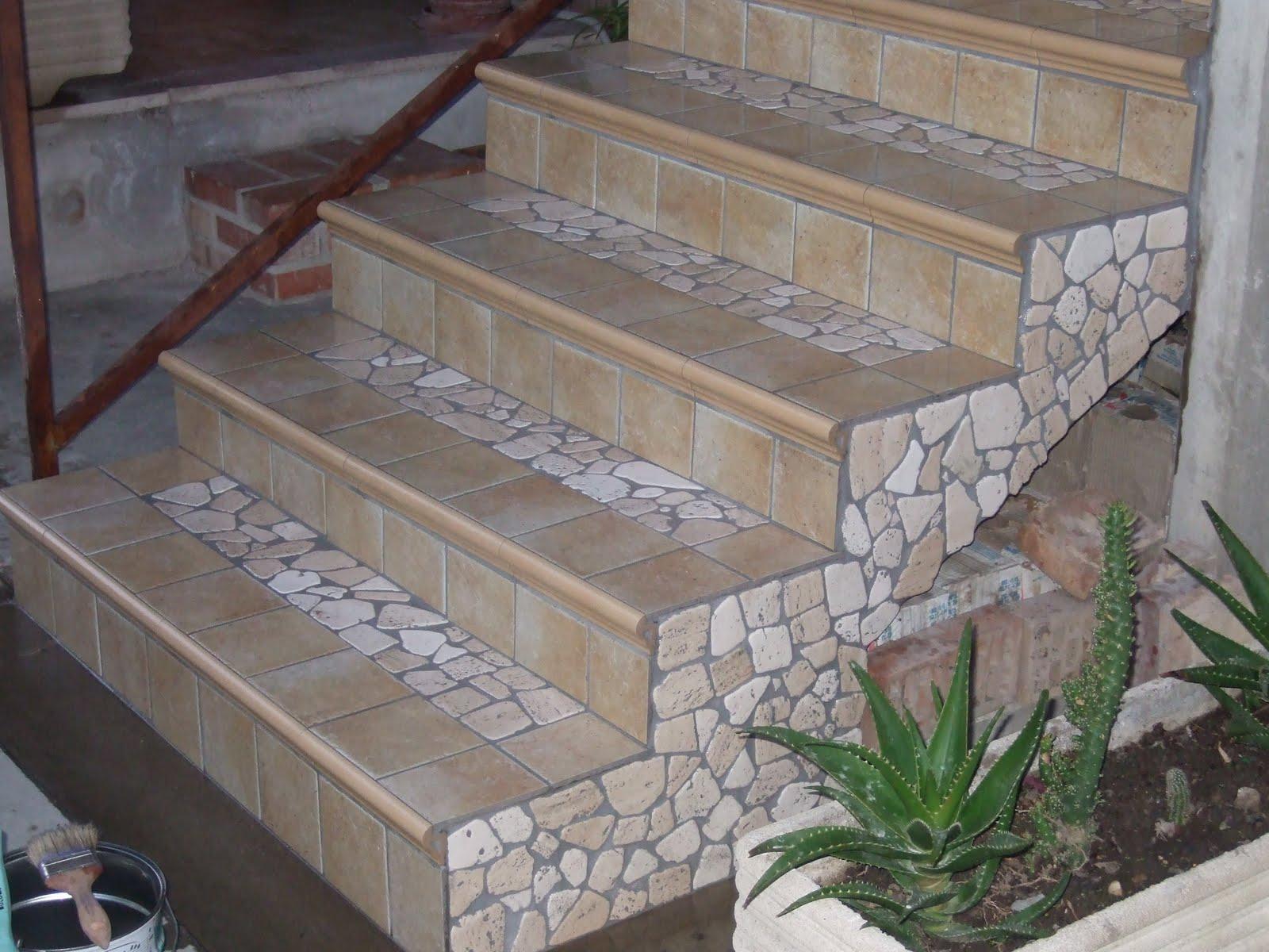 Posature artigianali di mosaici e palladiane palladiana - Mattonelle per scale ...