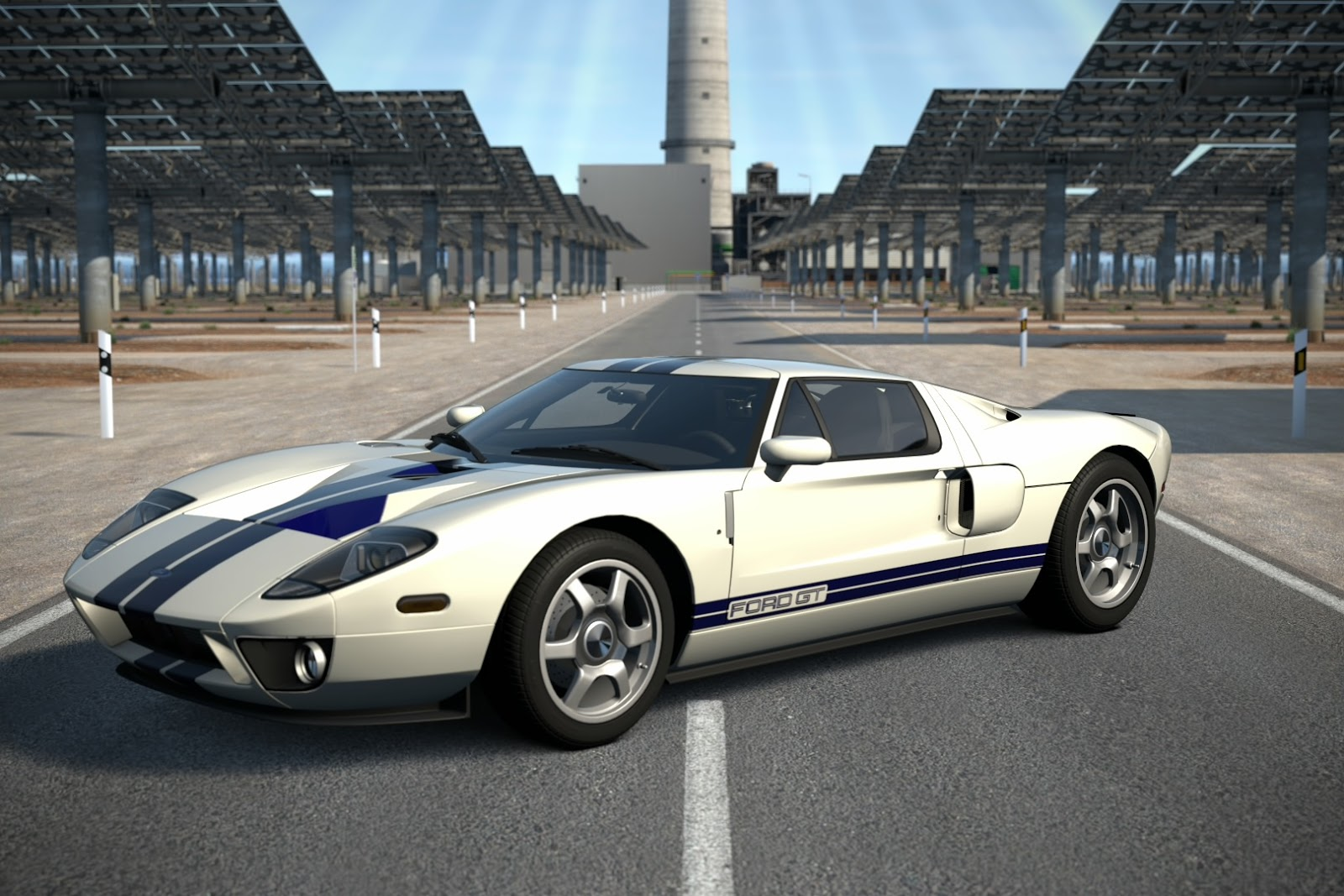 In Centennial White W Racing Stripes Here Is A  Ford Gt