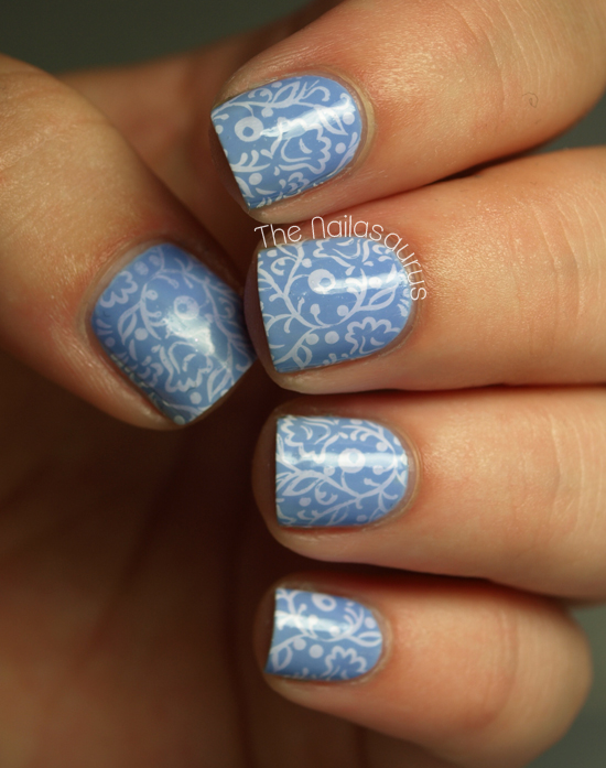 White And Blue Russian The Nailasaurus Uk Nail Art Blog