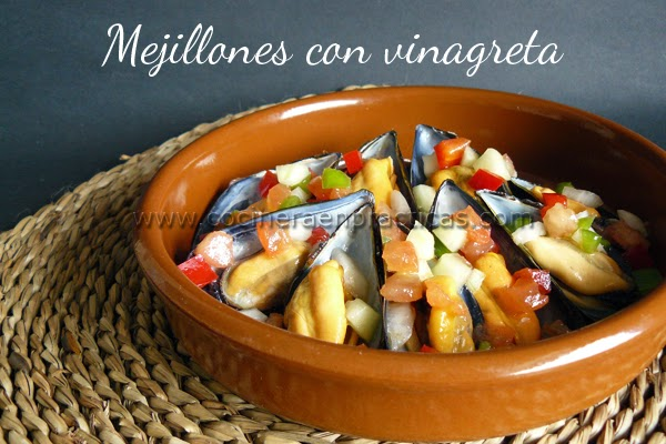 Mejillones con vinagreta