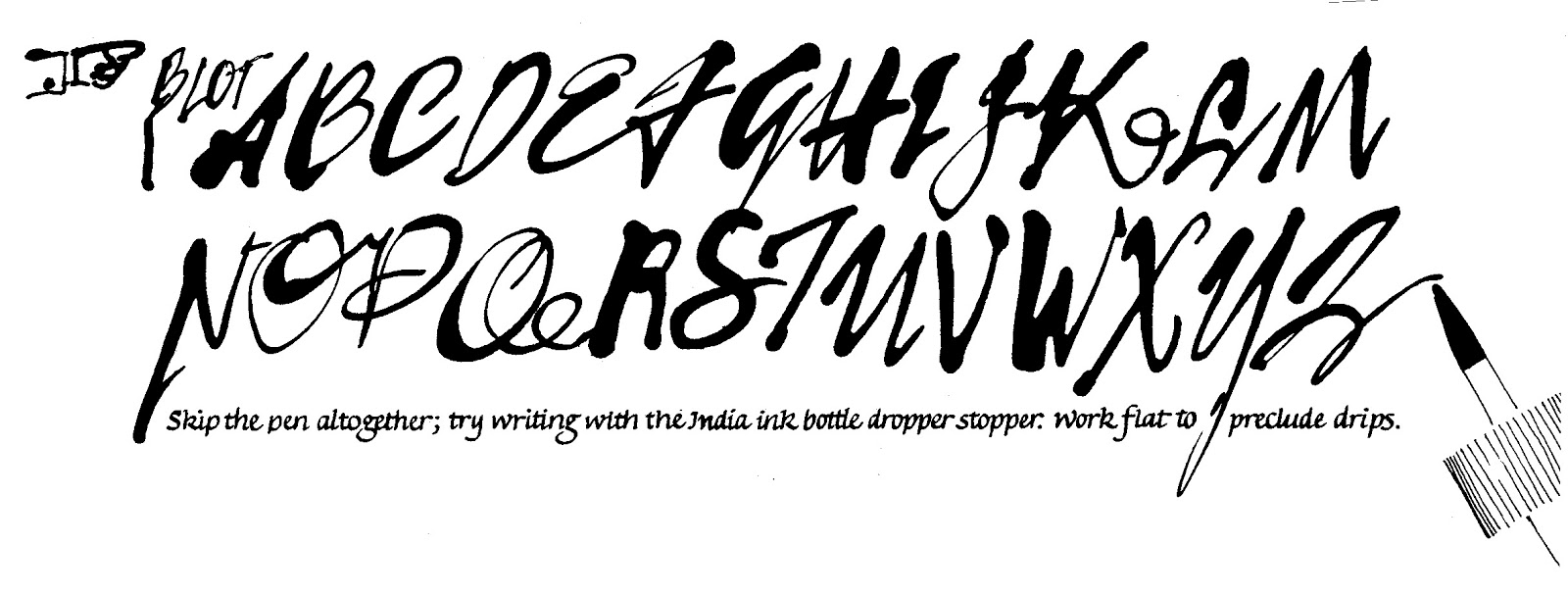 Quill And Ink Font Go Back > Galle...