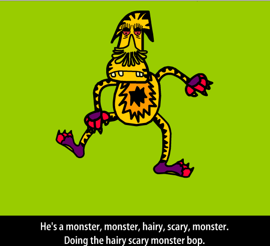 http://learnenglishkids.britishcouncil.org/en/songs/monster-bop