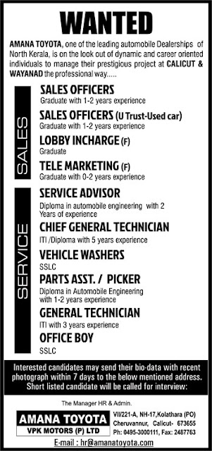 amana toyota job vacancies