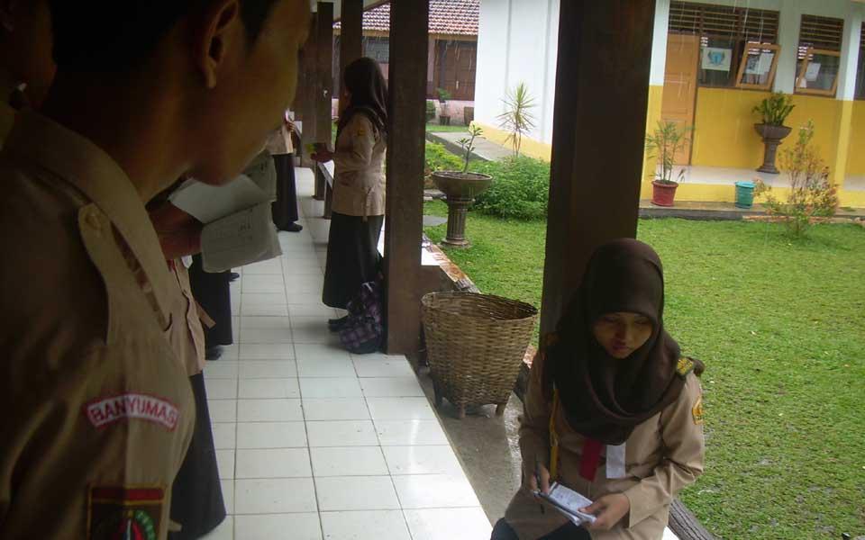 Pengisian pada kegiatan rutin dilaksanakan per sangga dan akan diuji oleh masing-masing penanggung jawab poin.