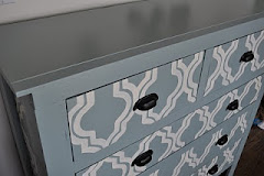 Hand Painted Blue Sideboard