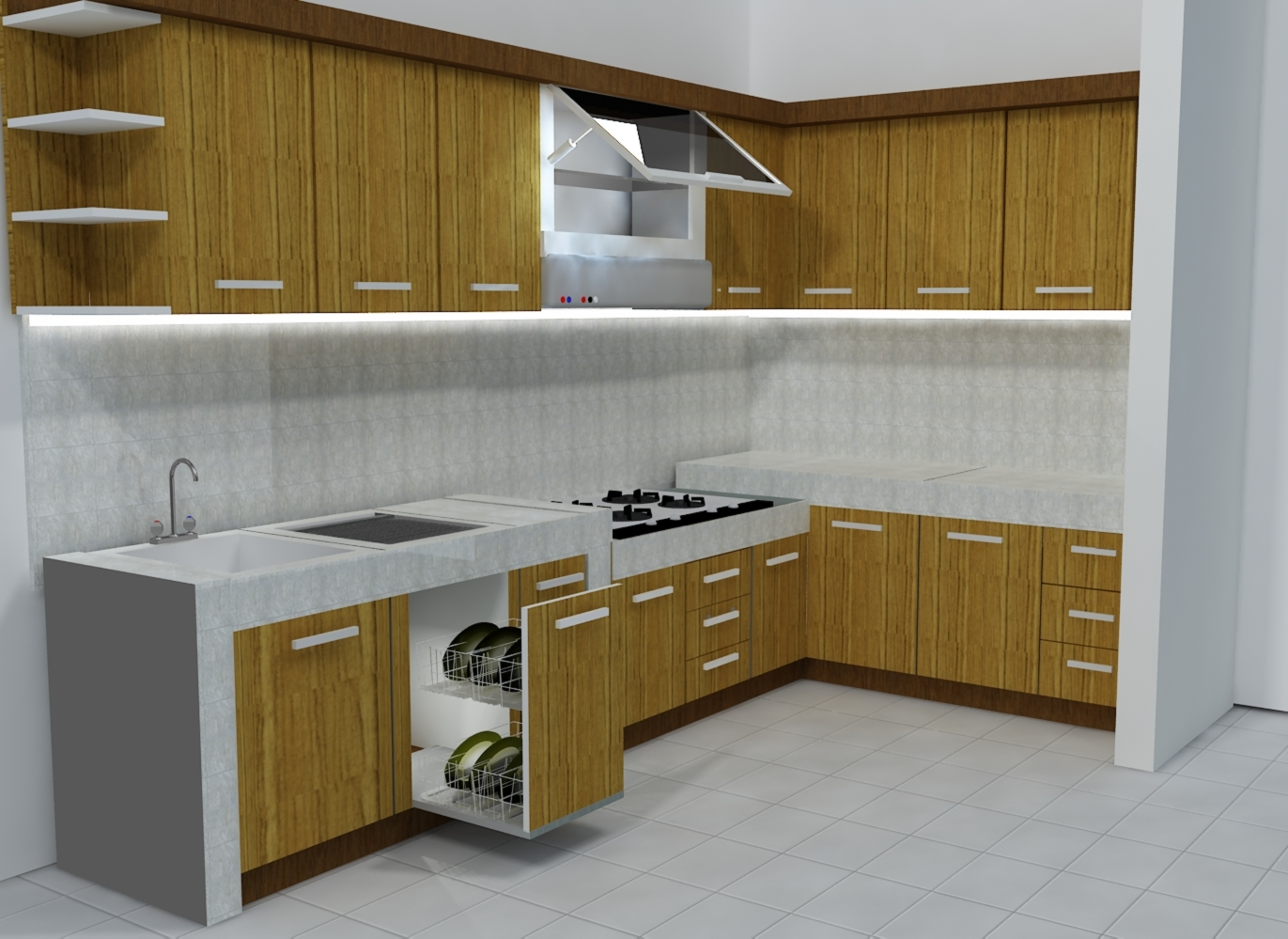 Harga 70 model gambar kitchen set minimalis for Model kitchen images
