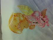 Pintura em fralda de bébé