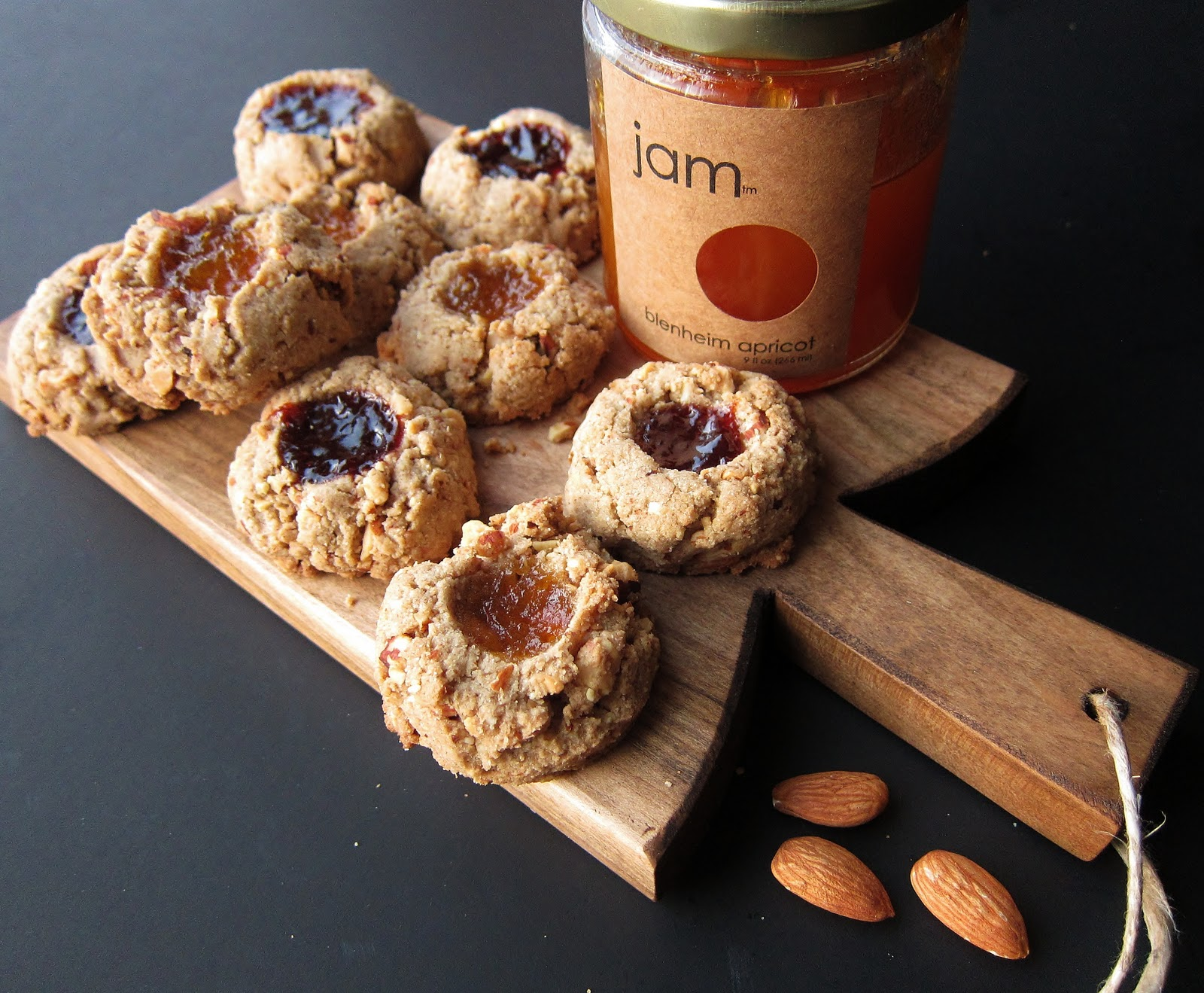 Arctic Garden Studio: Jammy Almond Thumbprint Cookies