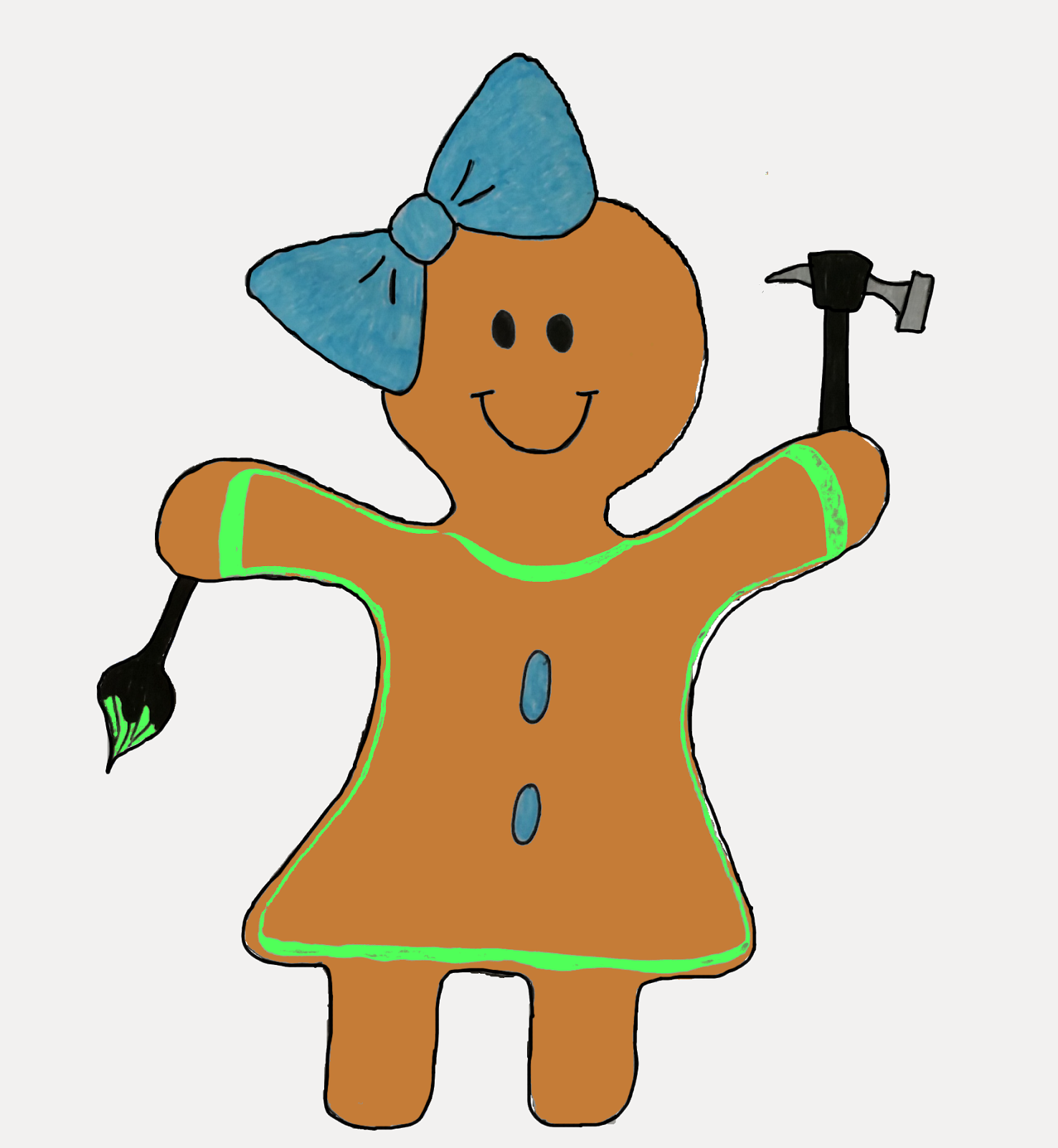 Practical Cookie Gingerbread Girl Logo