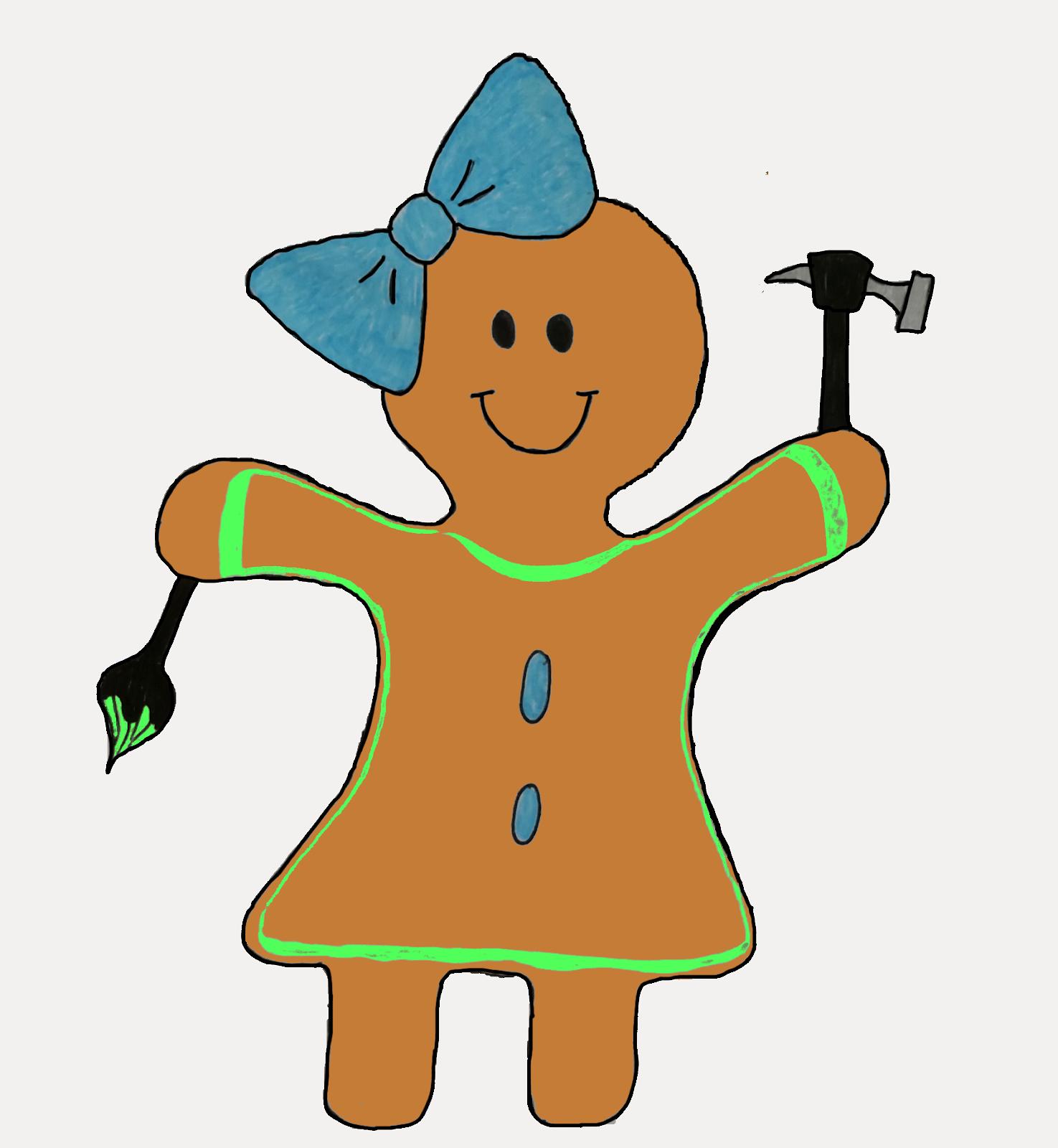 Practical Cookie Gingerbread Girl Logo
