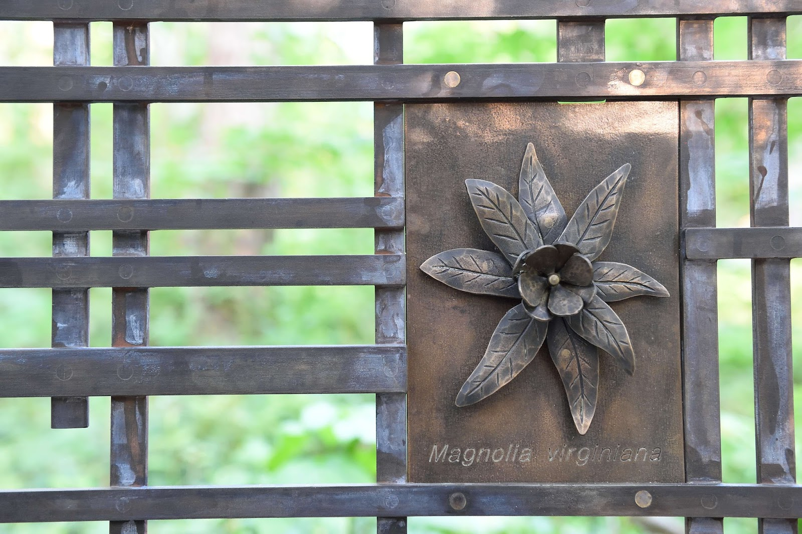 The wildlife garden in the h l blomquist garden of native plants - Close Up Of Metalwork On The Mcnabb Family Bridge Photo By Bob Ayers