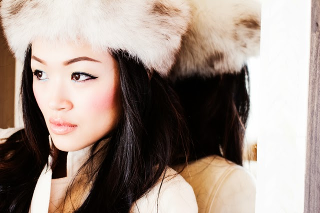 Vancouver Fashion Blogger Jasmine Zhu wearing vintage fur hat and vintage coat