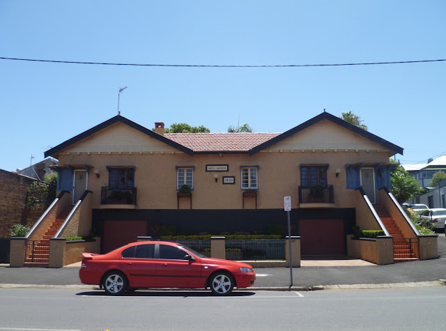 The Santa Barbara Apartments in Toowoomba, a good example of the Califonian Bungalow Style