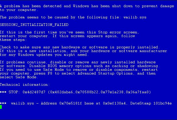 how to fix ram blue screen