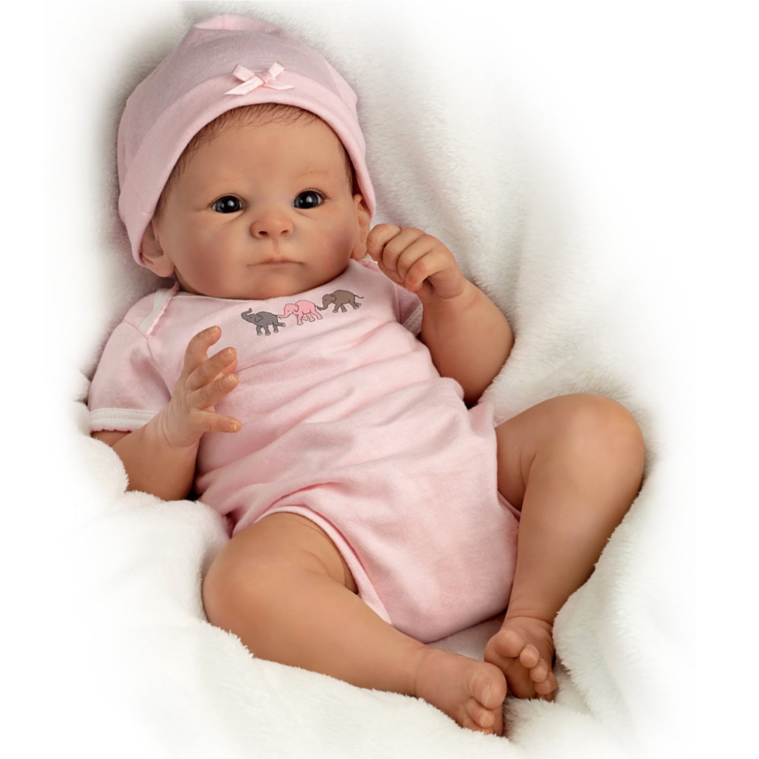 "Little Peanut Baby Doll - 17"" by Ashton Drake - What A Doll - Real Life Like Doll"