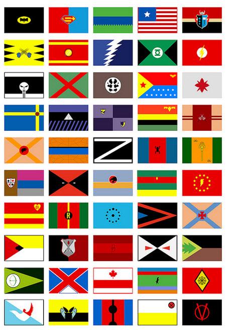 Los superhéroes como banderas
