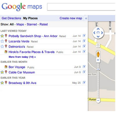 Megamisc My Places Google Maps New Feature