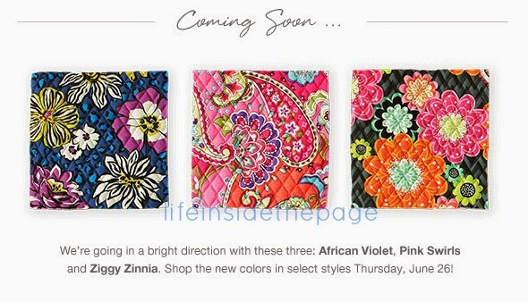 Vera Bradley | New Patterns June 26th | African Violet  Pink Swirls Ziggy Zinna