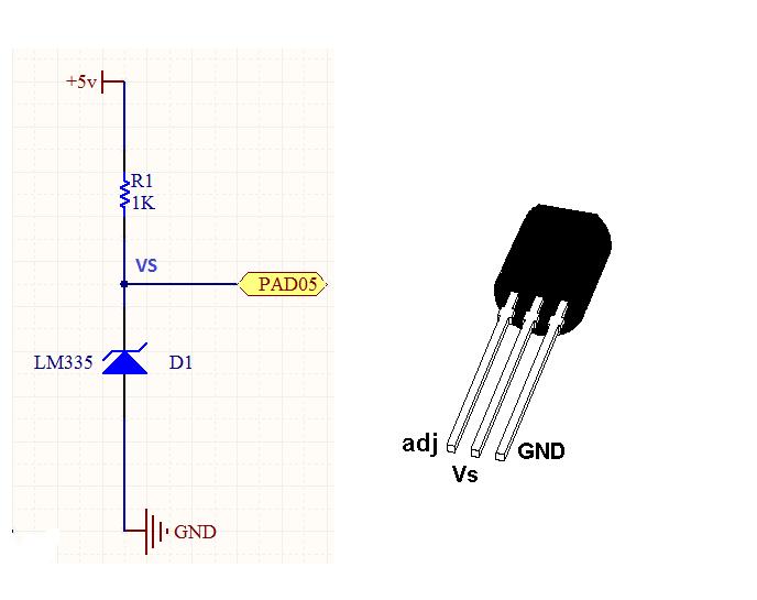 Transductores  Circuito De Temperatura Con Integrado Lm 335