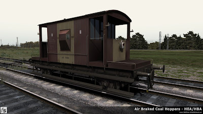 Fastline Simulation - Bonus Stock: A dia 1/507 BR 20T brake van from lot 3227 built at Darlington in 1959 and subsequently modified to work with air braked trains. This version is one of a number of 20T brake vans included in our HBA/HEA hopper wagon expansion pack for Train Simulator 2014 to help add variety and authenticity to the scenarios in the pack. Initially released with the VDA vans pack the vans has had new materials applied to bring it in line with the CAO/CAP versions in the pack and an extra version created with battery tail lamp for those examples likely to have survived into the late 1980s.