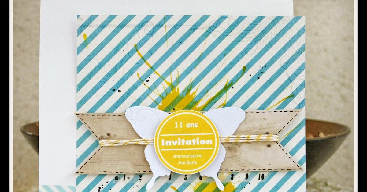 carte invitation anniversaire fille 11 ans gratuite