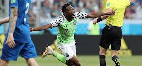 Musa anotó doblete en victoria de Nigeria ante Islandia