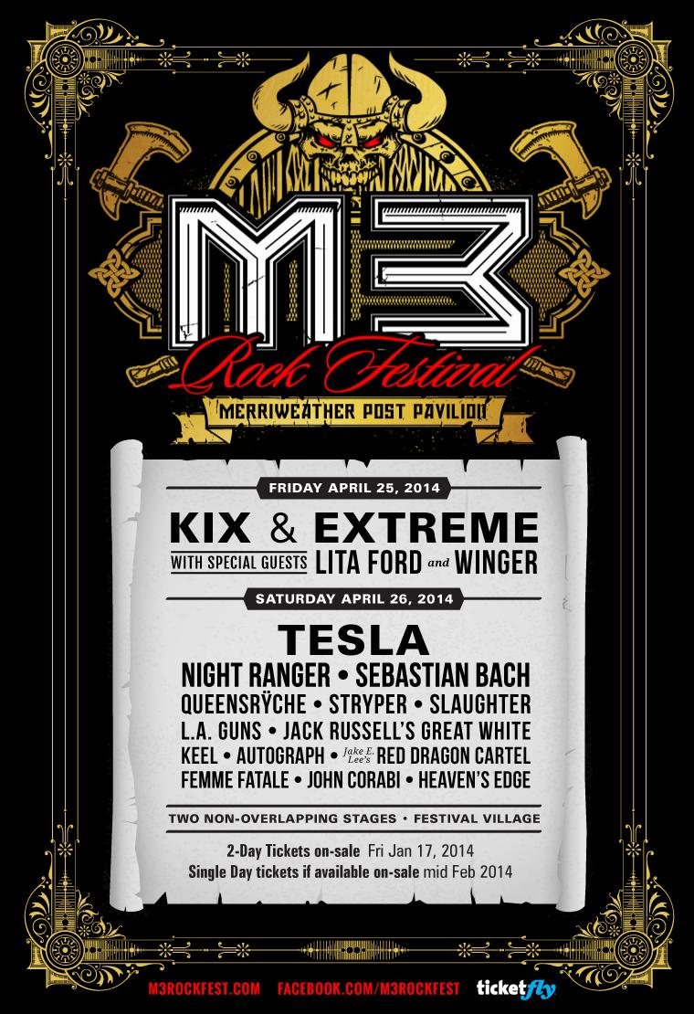 M3 Rock Festival 2014 poster