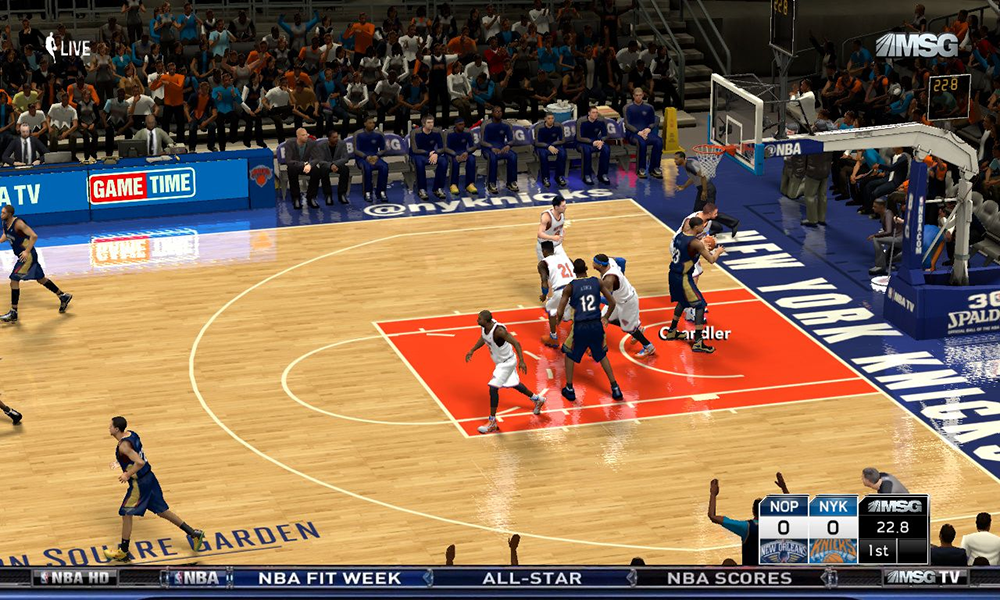 NBA 2K14 MSG TV Overlay and Watermark Mod