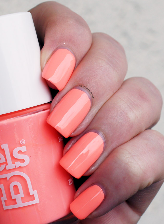 neon peach nail polish