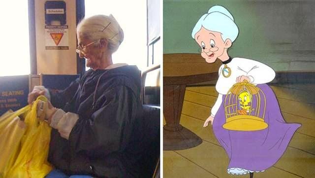 This grandmother and grandmother cartoon