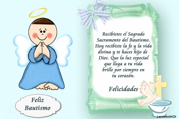 Felicitaciones de bautizo related keywords for Poemas para bautizo