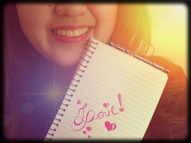 Amor platônico, claudia hi, o pequeno lirio, love, corações, caderno, caderninho