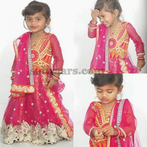 Baby in Pink Lace Lehenga