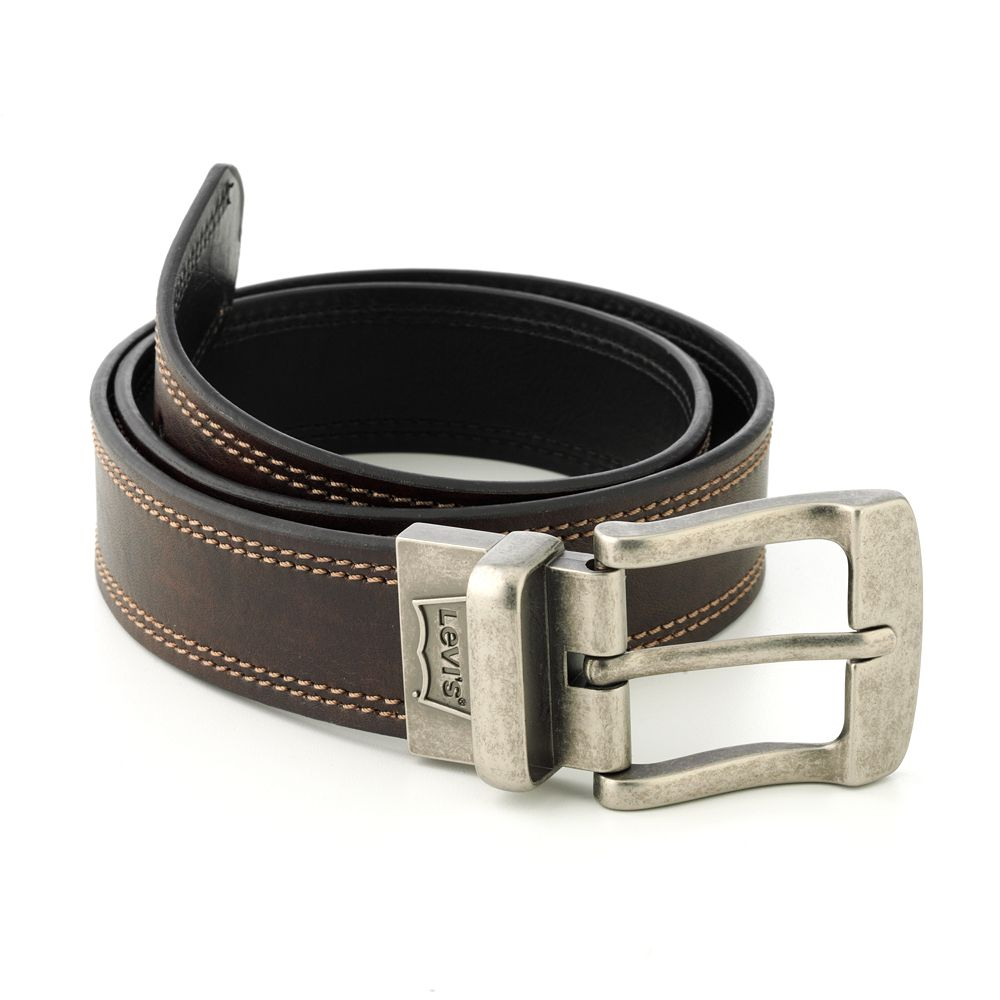 strawberry tags levi s 174 reversible leather belt in