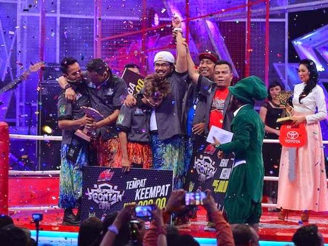 Hiburan, info, johan raja lawak, Johan 'Abe Macho' Juara Super Spontan 2014, sensasi, terkini,