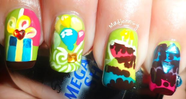 2013 birthday party nail art