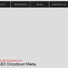 CSS3 Drop Down Menu