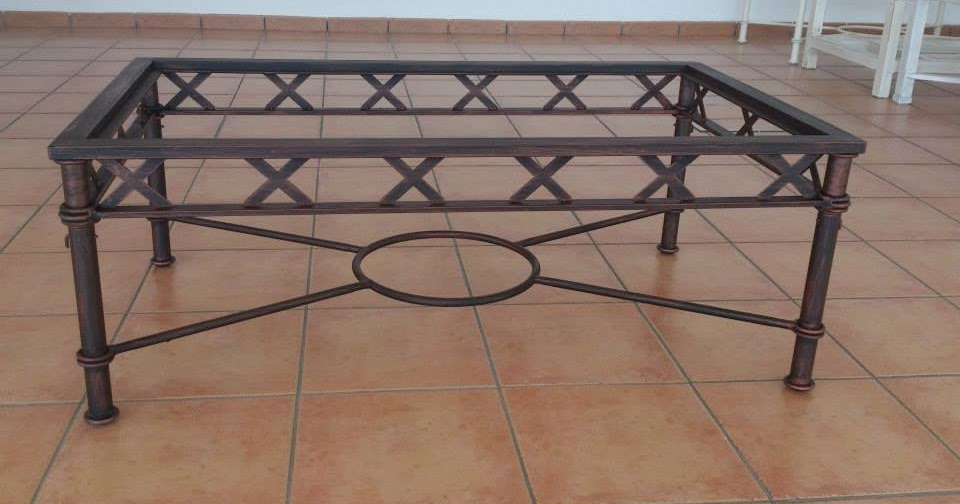 El portal del aljarafe mesas de camilla en forja y mesas - Mesas de forja y cristal ...