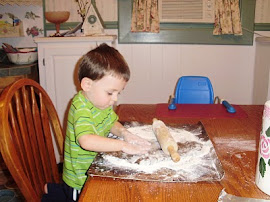 Preparing the gingerbread dough for cutting.