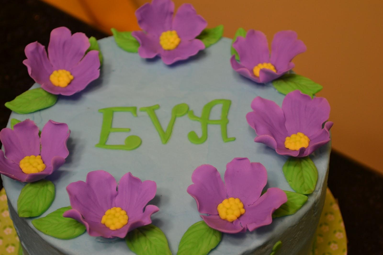 Cakes by Lala Evas 7th birthday purple flower cake