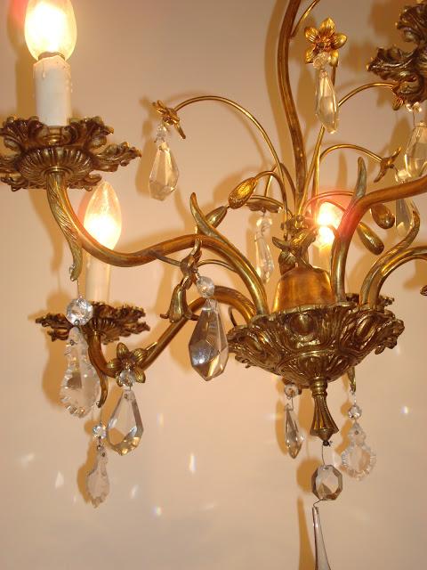 Comprar lámpara de lágrimas barata. Lamparas vintage de velas, cristal, de techo