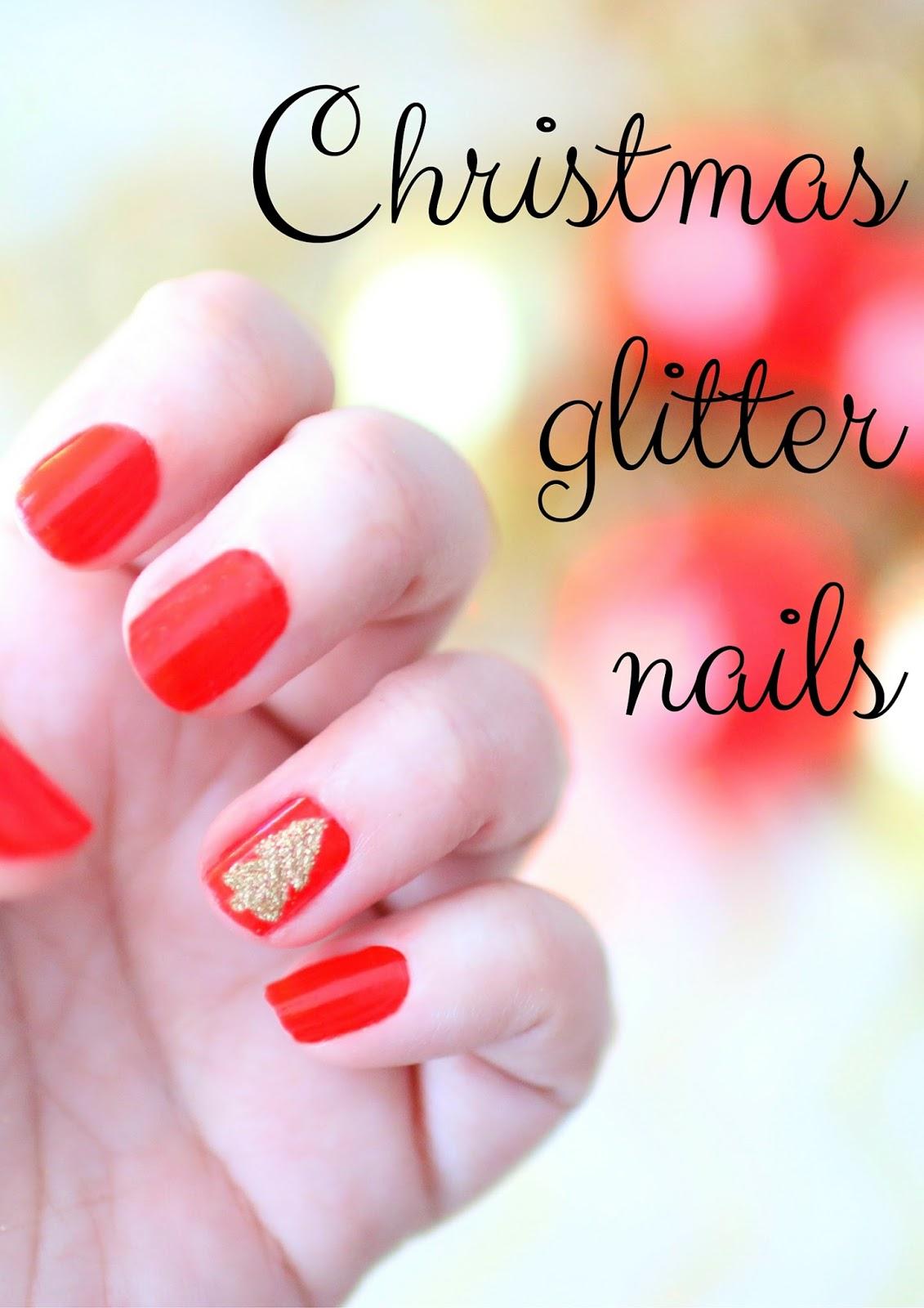 Elle Sees   Beauty Blogger in Atlanta: Cute Christmas Glitter Nails ...